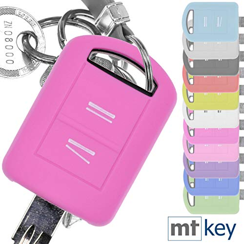 Soft Case Silikon Schutz Hülle Auto Schlüssel Rosa kompatibel mit Opel Combo C Corsa C Meriva A Tigra TwinTop