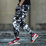 Vaqueros para Jeans Color De Camuflaje Moda Jeans para Hombre Pantalones hasta El Tobillo Jogger Pantalones Estilo Punk Hip Hop Jeans Homme