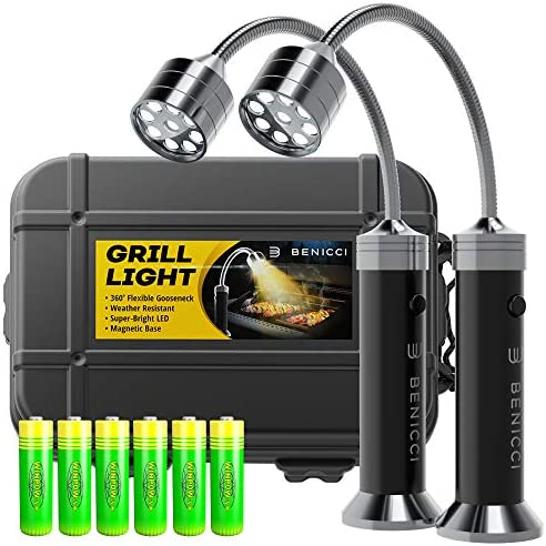 Benicci Flexible LED BBQ Grill Lights Set of 2 The Perfect Grilling Accessories Light with 360 product image