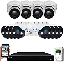 GW Security 16 Channel 4K NVR 8 Megapixel H.265 4K Security Camera System, (4) Dome and (8) Bullet Built-in Microphone Audio Recording HD 2160P 4K IP PoE Cameras, QR-Code Connection
