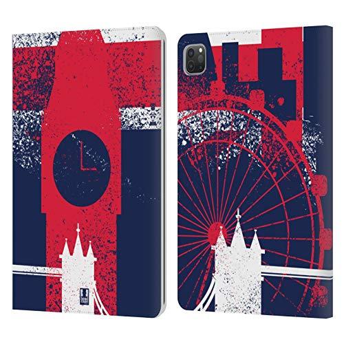Head Case Designs Lugar Señero Mejores de Londres Carcasa de Cuero Tipo Libro Compatible con Apple iPad Pro 11 (2020/2021)