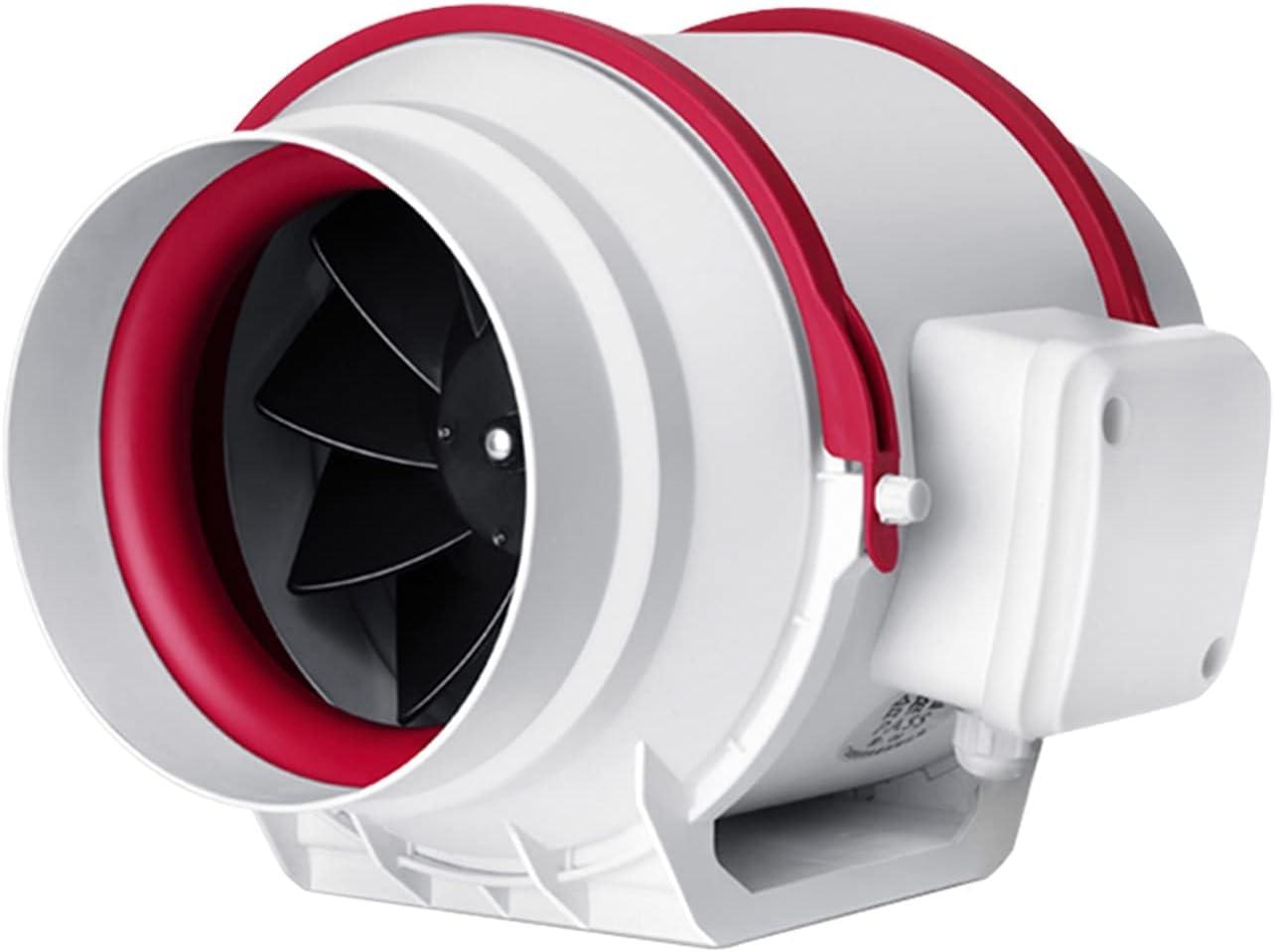 Ventilador extractor Ventilador de escape con conducto con conductos de flujo diagonal Potente ventilador de ventilador silencioso con ajustes de 2 velocidades Ventilador de escape de humo de cocina c