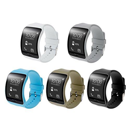 Correa de silicona de repuesto para reloj inteligente Samsung Galaxy Gear S SM-R750