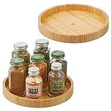 mDesign Especiero giratorio – Estante para especias, pimienta, ingredientes de...