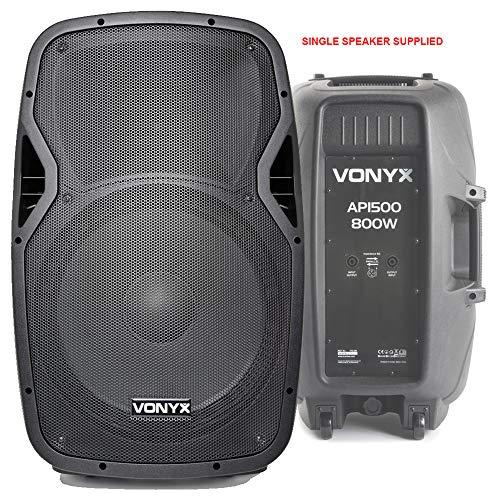 VONYX AP1500 Passive DJ PA Band 15 Inch ABS Lightweight Foldback Speaker...