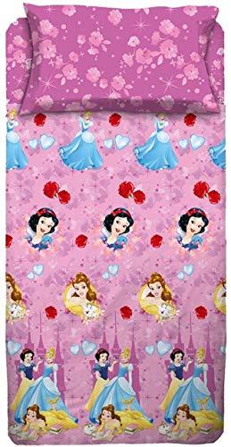 Disney - Completo Letto Principesse Una Piazza e Mezza, Set Lenzuola Letto 1,5  Lenzuolo sopra, sotto, Federa 