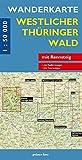 Wanderkarte Westlicher Thüringer Wald: mit Rennsteig (Wanderkarten 1:50.000)