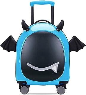 YCYHMYF16 inch Children's Trolley Bag Cartoon Pull Box Cartoon Cute Creative Suitcase Blue