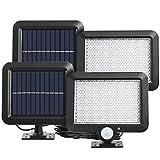 KZKR 2 lámparas solares 56 LED Motion Sensor Split Solar aplique de pared focos...