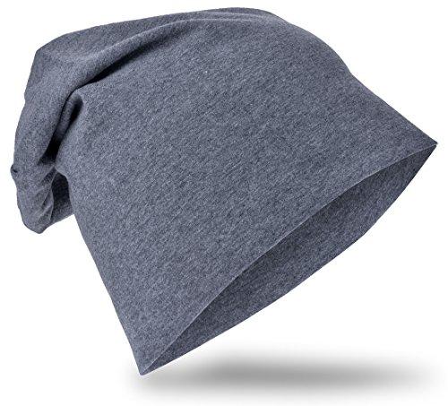 Miobo Jersey Slouch Beanie Long Mütze Unisex Unifarbe Baumwolle Baby Kinder Damen Herren