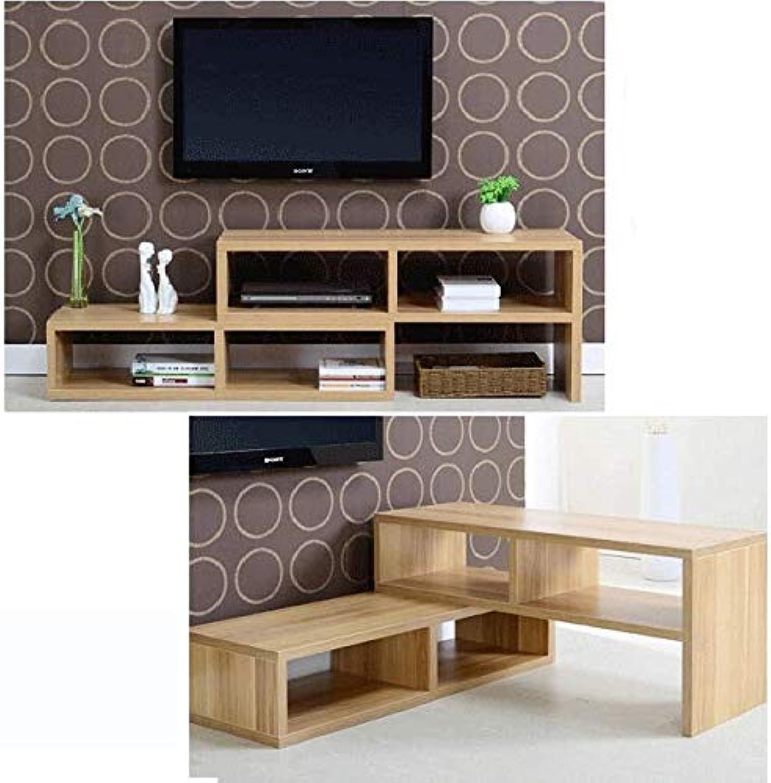 Varossa 2 in 1 Multifunctional Adjustable TV Cabinet Coffee Table Display Shelf Natural Oak