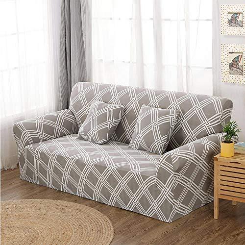 Un Juego Completo de 3 + 1 + 1 Fundas de sofá, Fundas de sofá Flexibles, una Funda Protectora Suave y Moderna para Todo el Rostro,Color_20_3-Seater_190-230