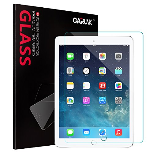 iPad 9.7' (2017) / iPad Pro 9.7 / iPad Air 2 / iPad Air Screen Protector GARUNK Tempered Glass Screen Protector [Crystal Clear] [Scratch Resist] [Bubble Free Install] [Apple Pencil Compatible]