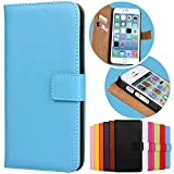 Roar Handy Hülle für Sony Xperia Z3, Handyhülle Hellblau, Tasche Handytasche Schutzhülle, Kartenfach & Magnet-Verschluss