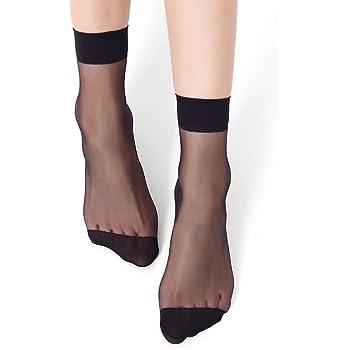 Silk Nylon Elastic Sheer Ankle 10 Pairs Socks  Women StockingsShort