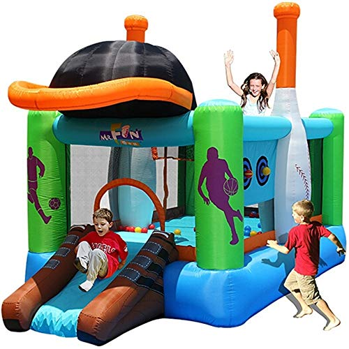 Bouncy Castle Kids Inflatable Bouncy Castle Jumping Castle Durable Sewn With Extra Thick Material Playing Games 246x427x283cm Playhouse Bouncer (Color : Sports trampoline, Size : 246x427x283cm)