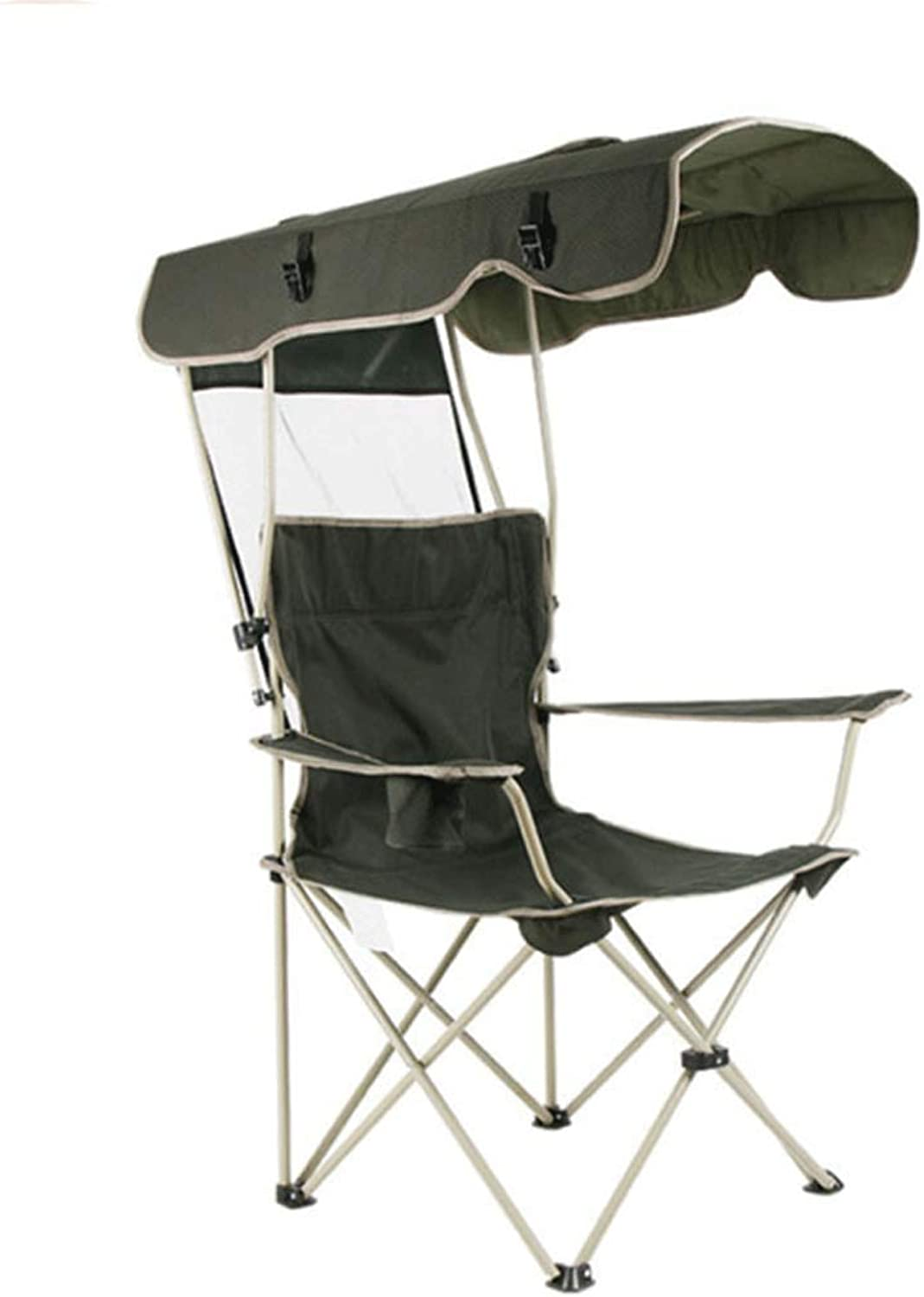 Outdoor Sun Predection Oxford Cloth Folding Chair Multi-Function Portable Fishing Beach Lounge Chair with Sun Hat
