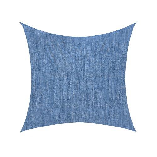jarolift Sonnensegel Quadrat atmungsaktiv, 500 x 500 cm, azurblau