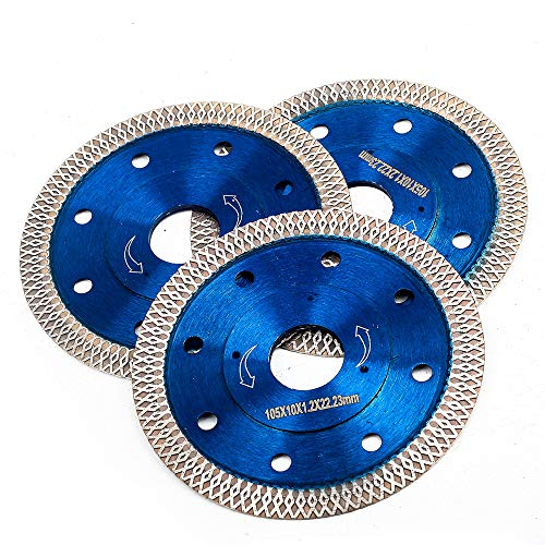 3 PCS 4 inch Supper Thin Diamond Cuttiing Tile Blade Porcelain Saw Blade for Cutting Granite Marble Tile Ceramic (4