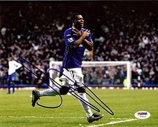 Yakibu Aiyegbeni Signed 8x10 Photo Everton - PSA/DNA Authentication - Sports Memorabilia