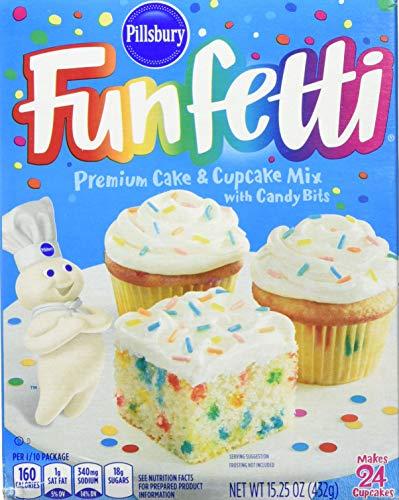 Pillsbury Funfetti Cake Mix With Candy Bits 432g (Pillsbury Funfetti-Kuchen-Mischung Mit Süßigkeit-Stückchen)