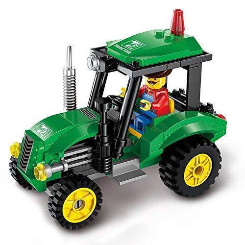 Baufahrzeuge New City BAU Straßenwalze Gabelstapler LKW Traktor Kehrmaschine Bausteine Kinder Spielzeug Kompatible Stadt Ziegel