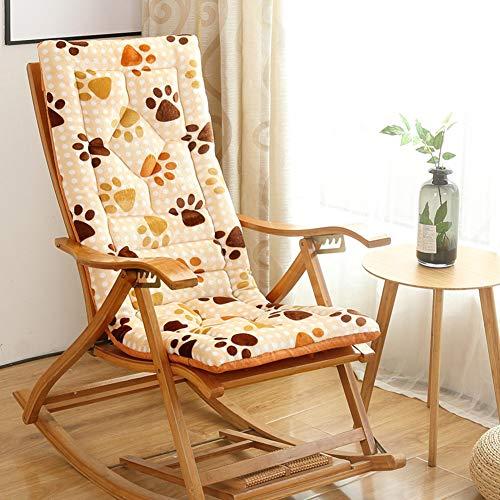 VIVOCFan dik pluche kussen met rugleuning, schommelstoel, hangstoel, kussen, opvouwbaar, bureaustoel, kussen (zonder stoel)