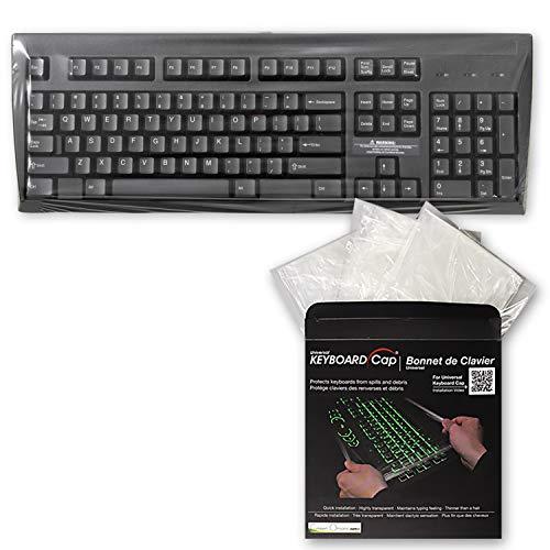 Green Onions Supply Völlig überdachte Wohnung Art, leicht Sanitized Universal-Abwischbar 0.025mm Superb Tastgefühl wasserdicht Anti-Staub-Tastatur-Kappen-Abdeckung [20 Stück]