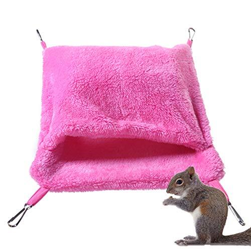 Hamster Huis Vogelkooi Hamster Bed Kat Hangmat Huisdier Hangmat Rat Bed Cavia Hangmat Vogel Hut Rat Hangmatten Voor Kooi rose red,s