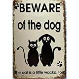 Cuidado con el perro rústico Vintage Metal cartel de chapa decoración Pub puerta de casa Vintage pared arte cartel placa-20x30cm