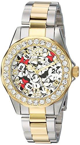 Invicta Relógio Feminino Disney Edição Limitada de Quartzo com Pulseira de Aço Inoxidável, Dois Tons 18 (Modelo: 24418)