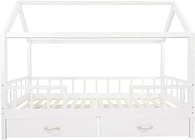 Puckdaddy House Bed Carlotta - 200x90 cm, Cama Infantil de ...