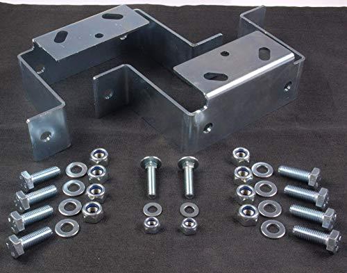 2X Halterungen für Abstellstützen & Klemmhalter für Stema Anhänger inkl. Befestigungsmaterial