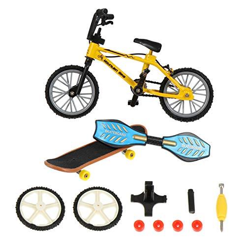 ABOOFAN Juego de Monopatín de Dedo para Bicicleta Mini Juguete para Bicicleta Pequeño Tablero Oscilante Juguetes para Jugar con La Punta del Dedo Favores de Fiesta