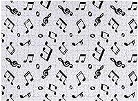 新しい白と黒の音楽ノートパターンパズル500ピース木製大人のジグソーパズル色子供のための抽象絵画パズル教育玩具ギフト