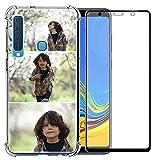 Coque de téléphone compatible avec Samsung Galaxy A9 2018 (résistant aux chocs Layuot 3 images)