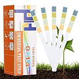 Bearbro Tester del pH del suolo,Test strisce PH,Strisce di Carta pH Strisce,Soil PH Tester,ph terreno strisce 0-14,PH per Giardino, Fattoria, Prato, Interno ed Esterno(150 strisces)