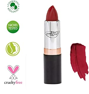 PUROBIO - Organic Lipstick n. 14 - Purobio Red - Moisturizing, Soft Texture, Rich Color, Sheer Finish - Nickel Tested, Organic Product, Vegan - 3.5 gr