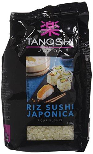 Tanoshi Riz Sushi Japonica - Riz japonais pour sushis - 450 g - Lot de 6