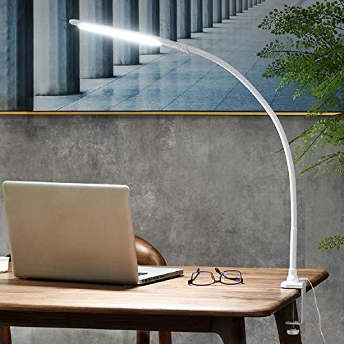 YOUKOYI Lampara con Pinza LED, Lámpara de Lectura de Brazo Largo, Control Táctil, Lámpara LED Escritorio de Mesa Protección Ocular, Luz de Lectura de 3 Modos, para Estudiar, Trabajar