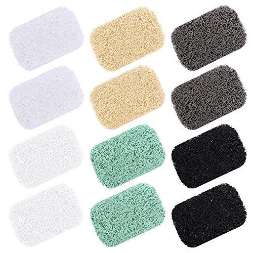 XQL 12 Pcs Soap Saver, Soap Holder Accessory, Soap Saver Pads Draining Soap Bar Holder for Shower