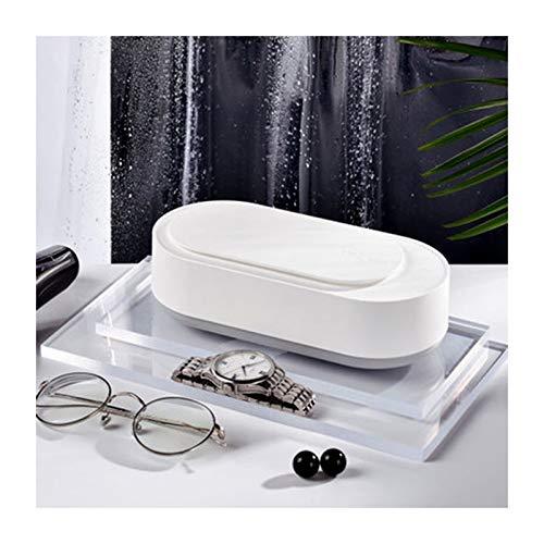 XIANWFBJ Ultraschallreinigungsmaschine,Ultraschallreiniger, Haushalts-Augenwaschmaschine, 360° Dreidimensionale Reinigung, 45Khz, Kontaktlinsen, Schmuck, Uhren, Zahnspangen, Reiniger,Weiß