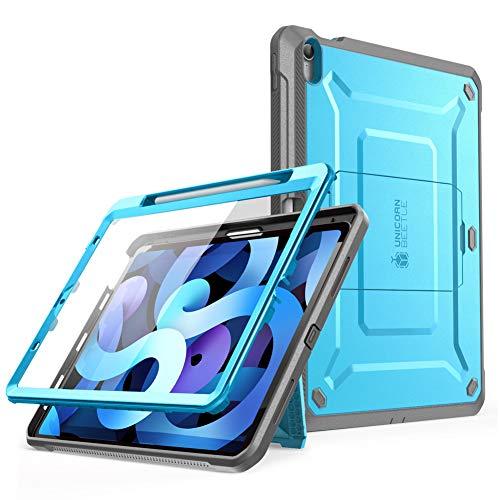 SupCase Funda iPad Air 4 10.9 Inch (2020) [Unicorn Beetle Pro Series] 360 Carcasa Completa con Soporte para Carga de Lápiz de Apple Y Protector de Pantalla Incorporado (Azul)
