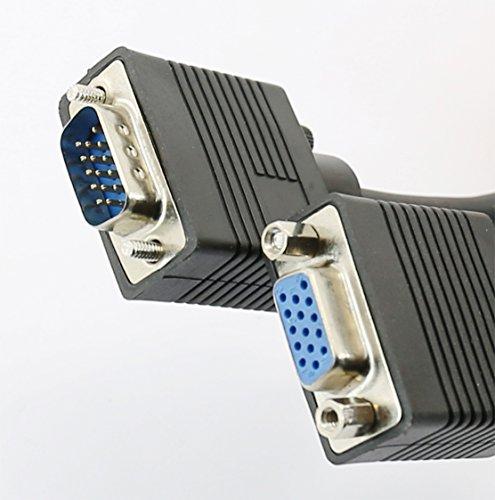 Rhinocables Extensión VGA Monitor Cable de 15 Pines Macho a Hembra SVGA...
