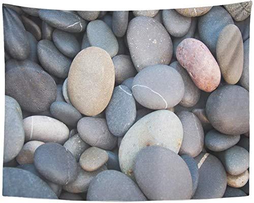 Tapiz, adoquines grises, mar, piedras de colores, tapices de borde de guijarros, tapices para colgar en la pared, para sala de estar, dormitorio, dormitorio, 150x100cm