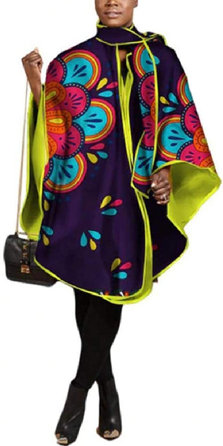 Spodat Womens Batik Africa Dolman Sleeve Long Sections Bolero Shrug Shirt Blouse