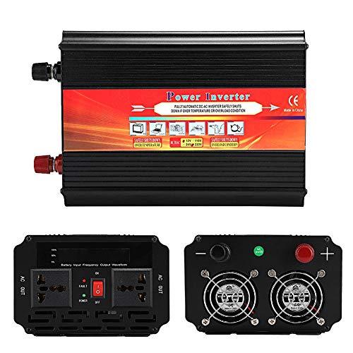 Terisass Convertidor de inversor de Corriente para Coche, 3000W DC 12V a AC 220V-240V Inversor de Coche de Onda sinusoidal modificada con Salida de CA Dual, Pantalla LCD