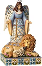 Enesco Jim Shore Heartwood Creek Angel with Lion and Lamb Figurine, 8.25-Inch