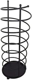 5CD1 Umbrella Stand Hotels Living Room Umbrella Barrel Wrought Iron Storage Rack Art Style (Color : 20x61cm)