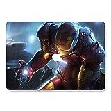 Hardcase für MacBook Pro 15 Zoll mit Retina-Bildschirm Modell A1398 - AQYLA Smooth Touch Matte Plastic Rubber Coated Schutzhülle - Iron Man 4